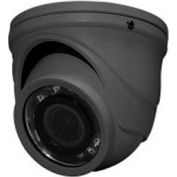 HD-TVI 4MP Mini-Turret Color Camera, 2.9mm Fixed Lens, Dark Grey Housing