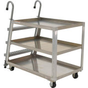 Vestil 2 Shelf Aluminum Stockpicker Truck SPA2-2848