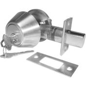 Double Cylinder Deadbolt - Stainess Steel - Pkg Qty 2
