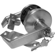 Leverset w/ Single Step Roses Entry Lock - Dull Chrome w/ Clutch