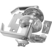 Leverset W/ 2 Step Rose Storeroom Lock - Dull Chrome - Pkg Qty 2