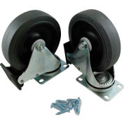 """Rubbermaid® 5"""" Swivel Plate Caster Kit With Hardware, Gray - FG9W71L1GRAY"""