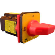 Springer Controls/MERZ A104-016-CR2,16A,3-Pole, Disconnect Switch, Red/Yellow, Center-Mount, Lockout