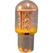 Springer Controls / Texelco LA-11EF4 70mm Stack Lamp, 120V LED Bulb - Yellow