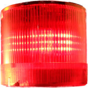 Springer Controls / Texelco LA-22-4F 70mm Stack Light, Flashing, 120V AC/DC LED - Red