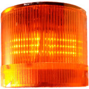 Springer Controls / Texelco LA-23-4F 70mm Stack Light, Flashing, 120V AC/DC LED - Amber