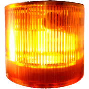 Springer Controls / Texelco LA-33-30 70mm Stack Light, Strobe, 240V AC/DC Xenon BULB - Amber