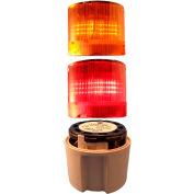 Springer Controls / Texelco LA-TCL02SB32 70mm Complete Light Stack, 24V LED, GRAY Term, R-A
