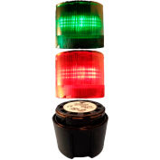 Springer Controls / Texelco LA-TCL92SF52 70mm Complete Light Stack, 120V LED, BLK Term, G-R