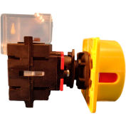 Springer Controls/MERZ ML1-025-CR3, 25A,3-Pole, Disconnect Switch, Red/Yellow, Center-Mount,Lockable