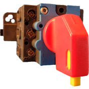 Springer Controls/MERZ ML1-040-PR2, 40A, 3-Pole, Disconnect Switch, Red/Yellow, Din-Mount, Lockout