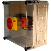 Springer Controls / MERZ ML3-125-AR3E, 125A, 3-Pole, Enclosed Disconnect Switch, Red/Yellow