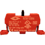 Springer Controls N5B10BN, N5 Series, 22mm Contact block, 1NO, base mounting, screw terminal.
