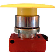 Springer Controls N5CEM6GN10, Mushroom Head-Momentary Push-Button Yellow, w/ Contact