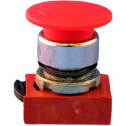 Springer Controls N5CER4RN01, Mushroom Head-Push-Button with Latch Red, w/ Contact