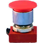 Springer Controls N5CET4RN222, Mushroom Head-3-Position Push Pull-Button Red, w/ Contacts