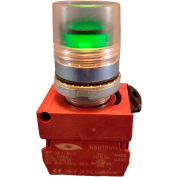 Springer Controls N5CPLAED, Illuminated Push Button, Momentary, Guarded - Amber - Pkg Qty 2