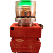Springer Controls N5CPLAGD10-120, Illuminated Push Button, Momentary, Flush (120V 1N.O) - Amber - Pkg Qty 2