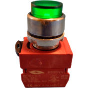 Springer Controls N5CPLVSDTN, Press-To-Test Pilot Light Green, AC, 240V Transformer
