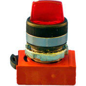 Springer Controls N5CSLZ0R, 3-Position Illuminated Selector , Maintained, RED