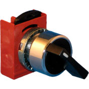 Springer Controls N5CSVZ5N, 3-Position Selector, 1-0-2, Maintained 1, Spring Returns 2 to 0, BLACK