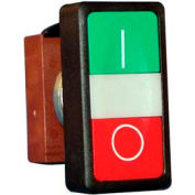 Springer Controls N5DPLVRG01, Double Push Button with I/O Symbols - without contacts