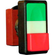 N5DPLVRS00, 22 mm Double Push Button Operator, Green-Red, Flush top & extended bottom, no symbols