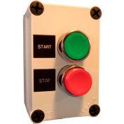 Springer Controls N5PEC201, Start-Stop Push-Button Station - Momentary - Chrome