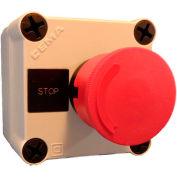 Springer Controls N5PEX103, Emergency Stop Push-Button Station - Twist Release - Black