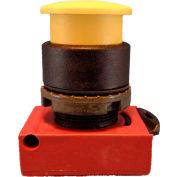 Springer Controls N5XEM3NN10, Mushroom Head-Momentary Push-Button Black, w/Contact-Shown in Yellow