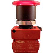 Springer Controls N5XET4AL110-24, Illuminated Mushroom Head, Push-Pull (24V, 1N.O.) - Amber