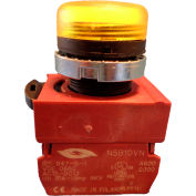Springer Controls N5XLGD-24, Pilot Light - Yellow - 24V Bulb with Power Supply AC/DC