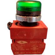 Springer Controls N5XLVD-24, Pilot Light - Green - 24V Bulb with Power Supply AC/DC