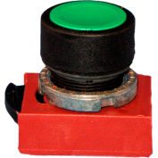 Springer Controls N5XPNNG10, 22 mm Momentary Push Button; Black, Flush, 1 normally open contact
