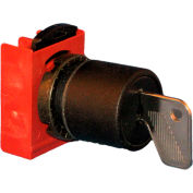 Springer Controls N5XSCU0T95, 22mm, 3-Position Key Selector , 1-0-2, KEY REMOVAL: 1,0,2