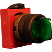 Springer Controls N5XSLZ0R, 3-Position Illuminated Selector, Maintained, RED