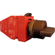 Springer Controls N5XSMD0R11, 2-Position Selector w/ Contact, 1-2 Maintained, RED - shown in black