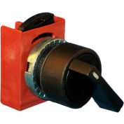 Springer Controls N5XSVE5N, 3-Position Selector, 1-0-2, Maintained 1, Spring Returns 2 to 0, BLACK