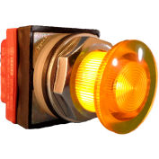 Springer Controls N7ELSGR02-240, 30mm Illuminated Mushroom-Head, Momentary, 240V, 2 N.C. - Yellow