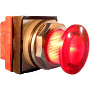 Springer Controls N7ELSRT20-480, 30mm Illuminated Mushroom-Head, Momentary, 480V, 2 N.O. - Red