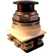 Springer Controls N7EM3R01, 30 mm Mushroom-Head, 1 Normally Closed, Momentary, Black
