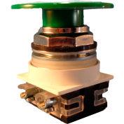 Springer Controls N7EM6R02, 30 mm Mushroom-Head, 2 Normally Closed, Momentary, Green
