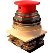Springer Controls N7ER3R02, 30mm Mushroom-Head, 2 Normally Closed, Twist-Release, Red