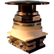 Springer Controls N7ET6N01, 30 mm Mushroom-Head, 1 Normally Closed, Push-Pull Maintained, Black