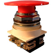 Springer Controls N7ET6R02, 30 mm Mushroom-Head, 2 Normally Closed, Push-Pull Maintained, Red