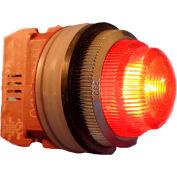 Springer Controls N7LNAR-240, 30mm Pilot Light - 240V Bulb, with Power Supply AC/DC - Amber