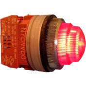 Springer Controls N7LNRD-24, 30mm Pilot Light - 24V Bulb, with Power Supply AC/DC - Red
