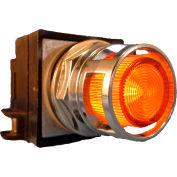 Springer Controls N7PLMAT20-240, 30mm Illum. Push-Button, Guarded, Momentary, 240V, 2 N.O., Amber