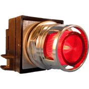 Springer Controls N7PLMRD00-24, 30mm Illum. Push-Button, Guarded, Momentary, 24V, No Contacts, Red