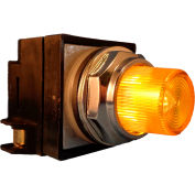 Springer Controls N7PLSGR10-240, 30mm Illum. Push-Button, Extended, Momentary, 240V, 1 N.O., Yellow